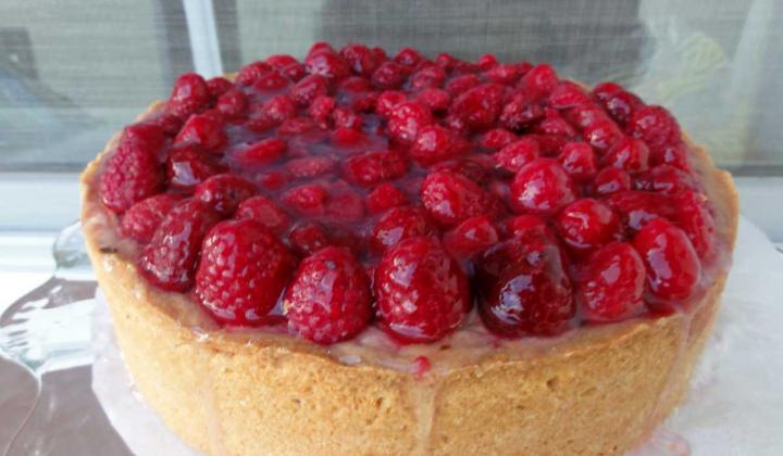 Jak upéct tvarohovo-malinový moučník v dortové formě | recept
